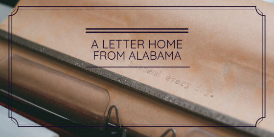 Christian | Alabama | Letter | Home