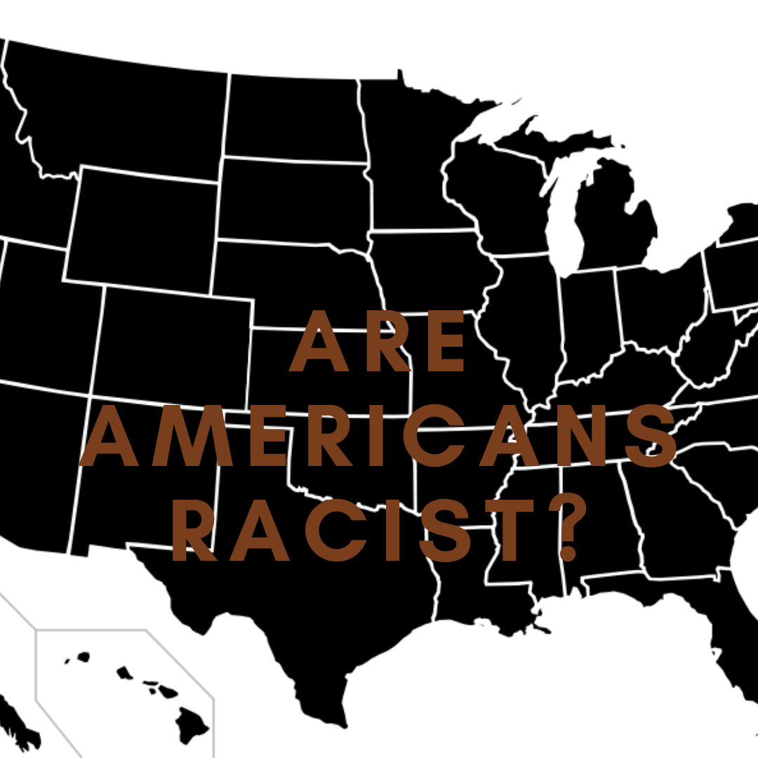 Are Americans racist? Black map of America posing question