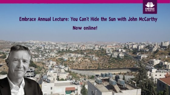 Embrace Annual Lecture: You can't hide the sun with John McCarthy