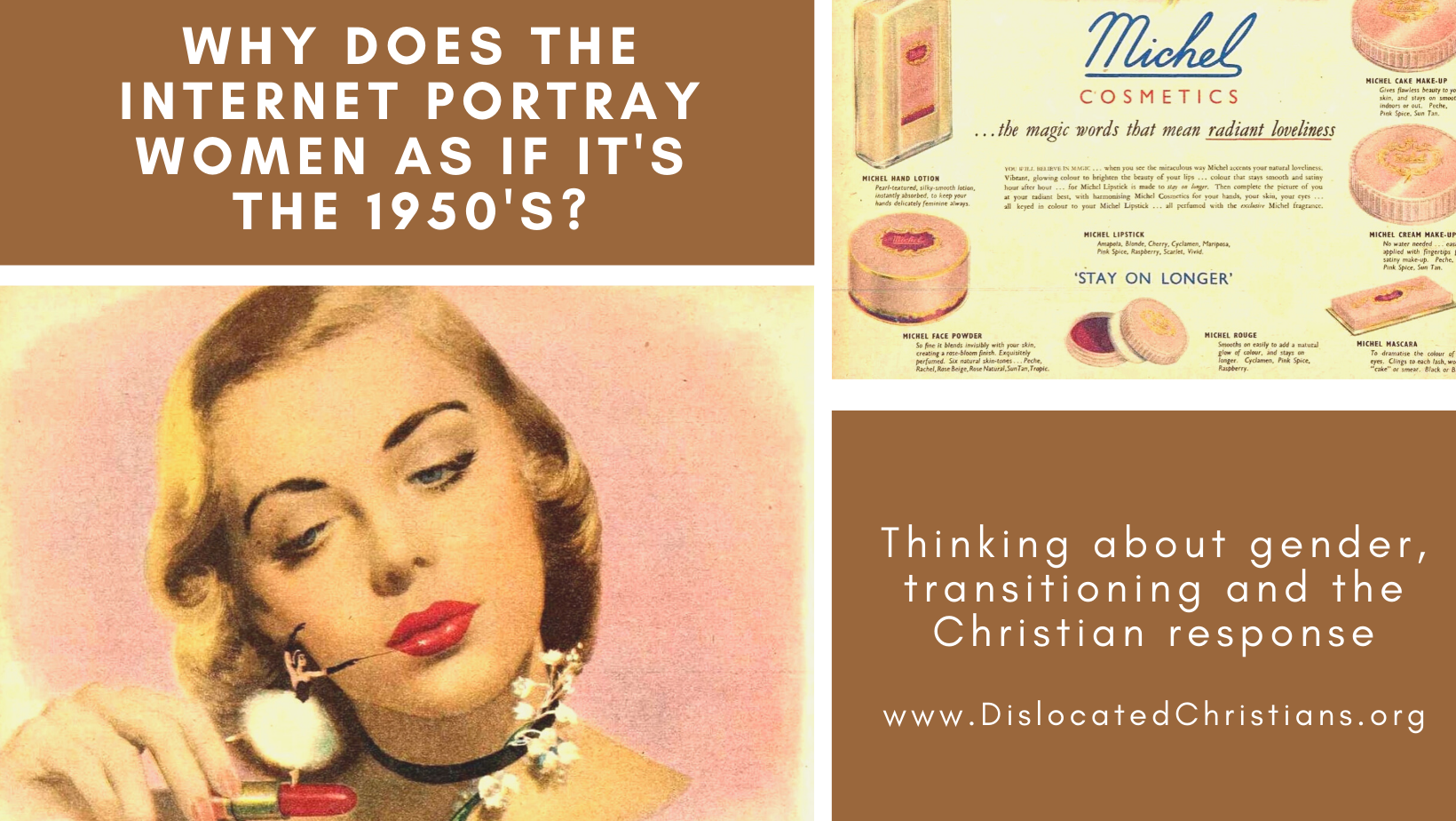 1950s make-up advert, gender transitioning and the Christian response