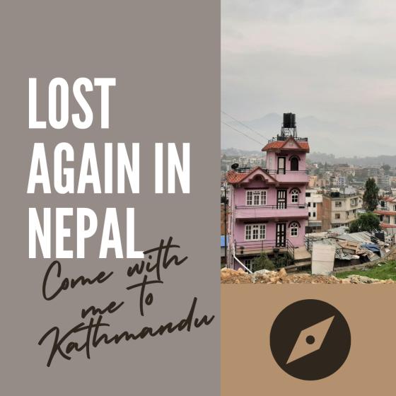 Kathmandu house and skyline